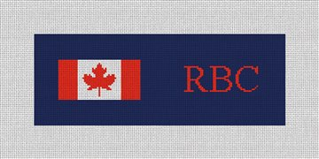 My Favorite Flag Needlepoint Wallet Canvas