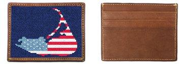 Nantucket Needlepoint Card Wallet