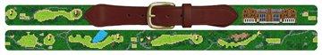 Nassau Country Club Golf Course Needlepoint Belt