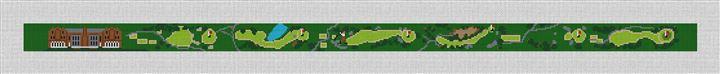 Nassau Golf Course Needlepoint Belt Canvas