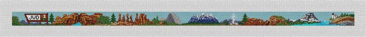National Parks Needlepoint Belt Canvas
