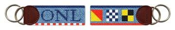 Nautical Flags Needlepoint Key Fob