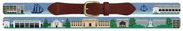 Naval Academy Campus Needlepoint Belt