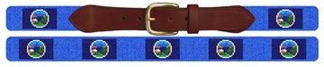 Nebraska Flag Needlepoint Belt