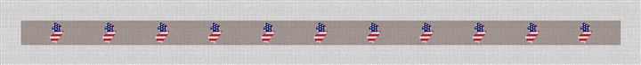 New Jersey State Needlepoint Belt Canvas