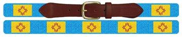 New Mexico Flag Needlepoint Belt
