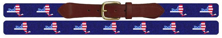 New York State Needlepoint Belt
