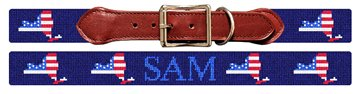New York State Needlepoint Dog Collar