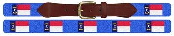 North Carolina Flag Needlepoint Belt