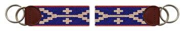 Northern Star Needlepoint Key Fob
