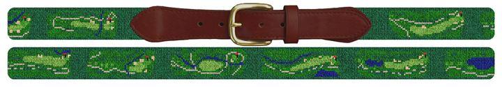 Northwood Club Golf Course Needlepoint Belt