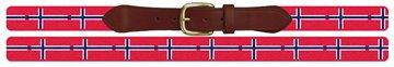 Norway Flag Needlepoint Belt
