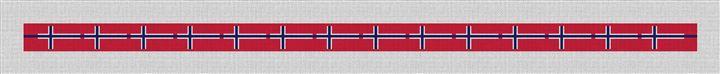 Norway Flag Needlepoint Belt Canvas