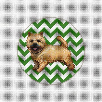 Norwich Terrier Needlepoint Canvas