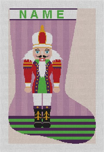 Nutcracker Christmas Stocking Needlepoint Canvas