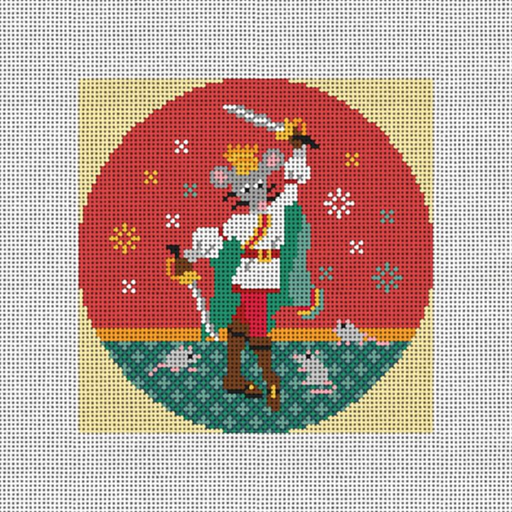 Nutcracker Mouse King Needlepoint Ornament Canvas