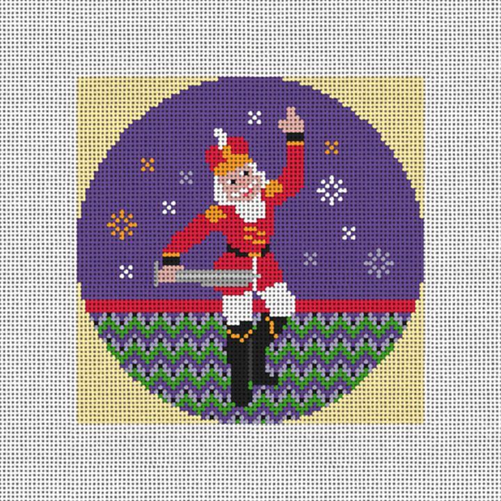 Nutcracker Prince Needlepoint Ornament Canvas