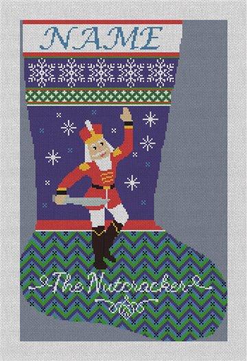 Nutcracker Prince Needlepoint Stocking Canvas