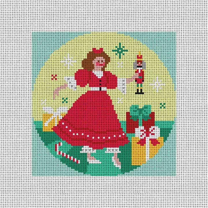 Nutcracker Suite Clara Needlepoint Ornament Canvas