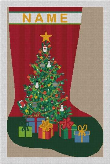 O Tannenbaum Needlepoint Stocking Canvas
