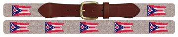 Ohio Flag Needlepoint Belt