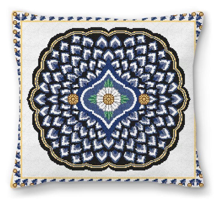 Ornamental Needlepoint Pillow
