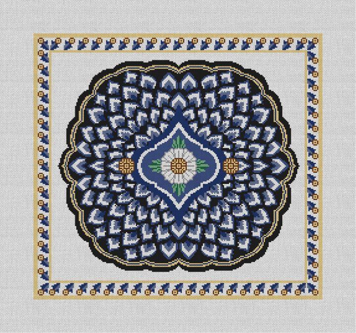 Ornamental Needlepoint Pillow Canvas