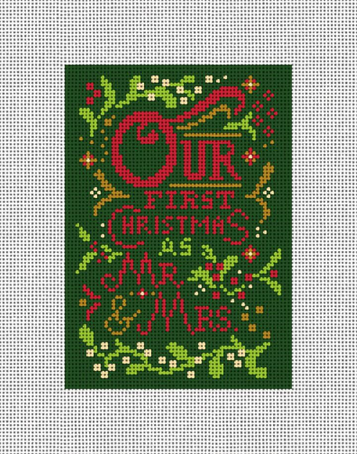 Our First Christmas Needlepoint Ornament Canvas