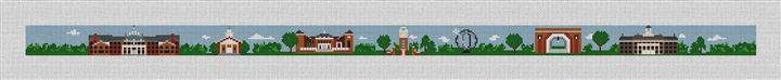 Oxford Ohio Landscape Needlepoint Belt Canvas