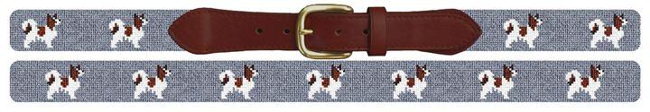 Papillon Needlepoint Belt