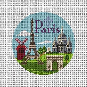 Paris Needlepoint Ornament Canvas