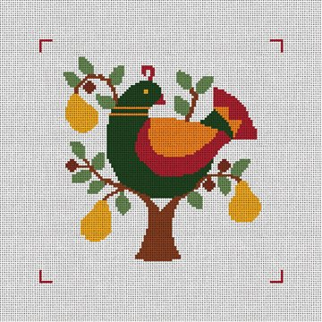 Partridge in a Pear Tree Needlepoint Canvas
