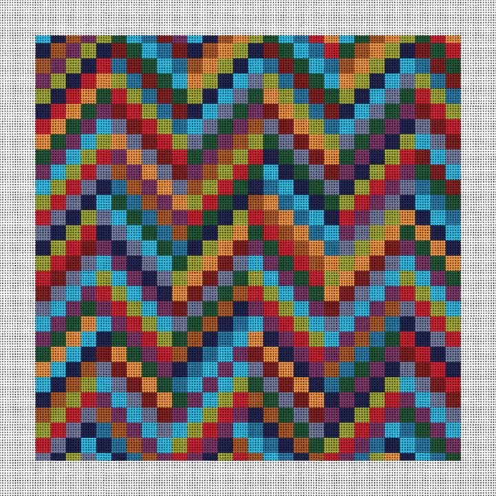 Patchwork Bargello Needlepoint Canvas