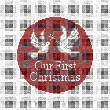 Peace Doves Needlepoint Ornament Canvas
