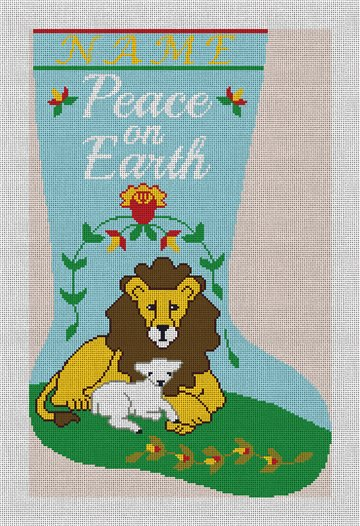 Peace on Earth Needlepoint Stocking Canvas