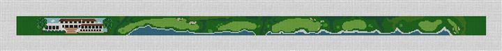 Pebble Beach Golf Course Needlepoint Belt Canvas