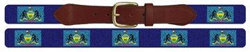 Pennsylvania Flag Needlepoint Belt