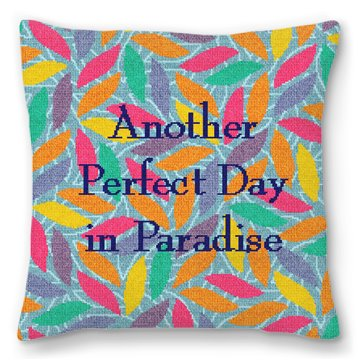 Perfect Day Needlepoint Pillow