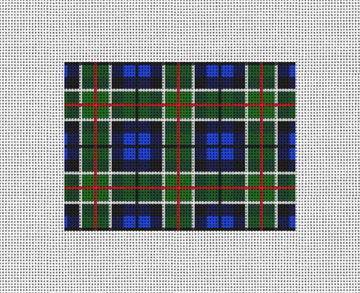 Perfectly Plaid Needlepoint Card Wallet Canvas