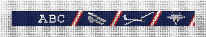 Personalized Airplane Needlepoint Belt Canvas
