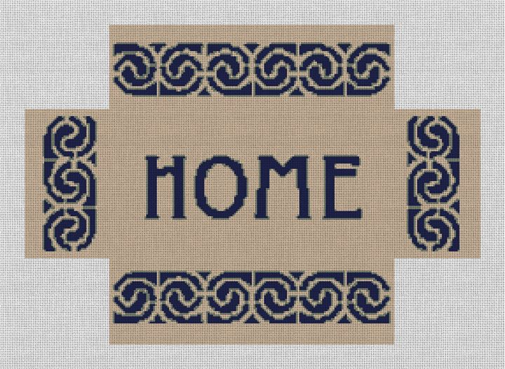 Personalized Brick Cover Needlepoint Canvas