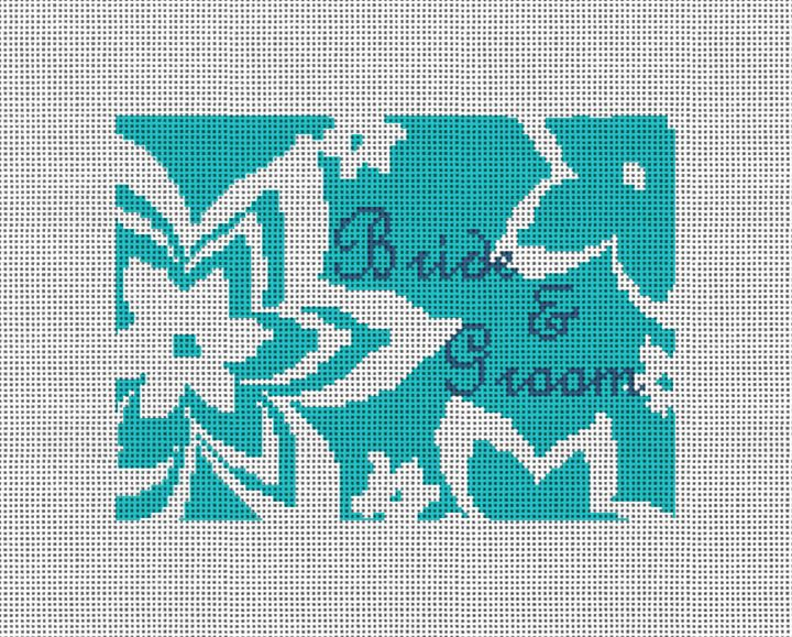 Personalized Flower Ring Bearer Pillow Canvas