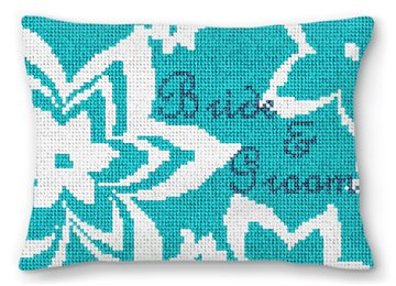 Personalized Flower Ring Pillow
