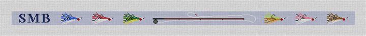 Personalized Fly Fishing Needlepoint Belt Canvas