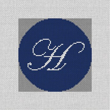 Personalized Initial Needlepoint Ornament Canvas