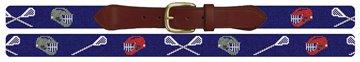 Personalized Lacrosse Needlepoint Belt
