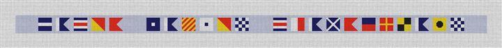 Personalized Nautical Flag Needlepoint Belt Canvas
