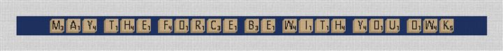 Personalized Word Game Needlepoint Belt Canvas