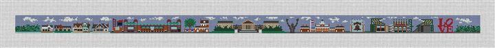 Philadelphia Landscape Needlepoint Belt Canvas