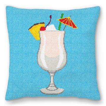 Piña Colada Needlepoint Pillow